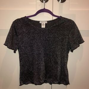 Urban Outfitters size M sparkle lettuce crop